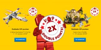 Dubbele VIP punten LEGO Star Wars
