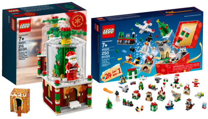 LEGO 40222 Christmas Build Up en 40223 Snowglobe