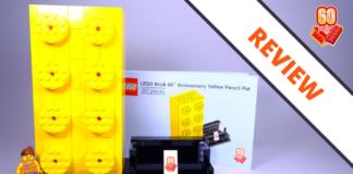 LEGO 6258619 LEGO Brick 60th Anniversary Yellow Pencil Pot