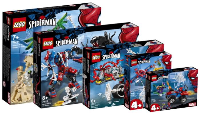 LEGO Marvel Spider-Man sets 2019