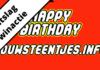 Uitslag Happy Birthday Bouwsteentjes