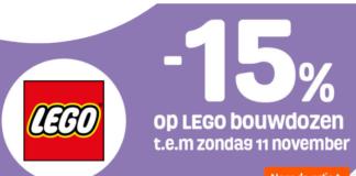 15% korting op al het LEGO