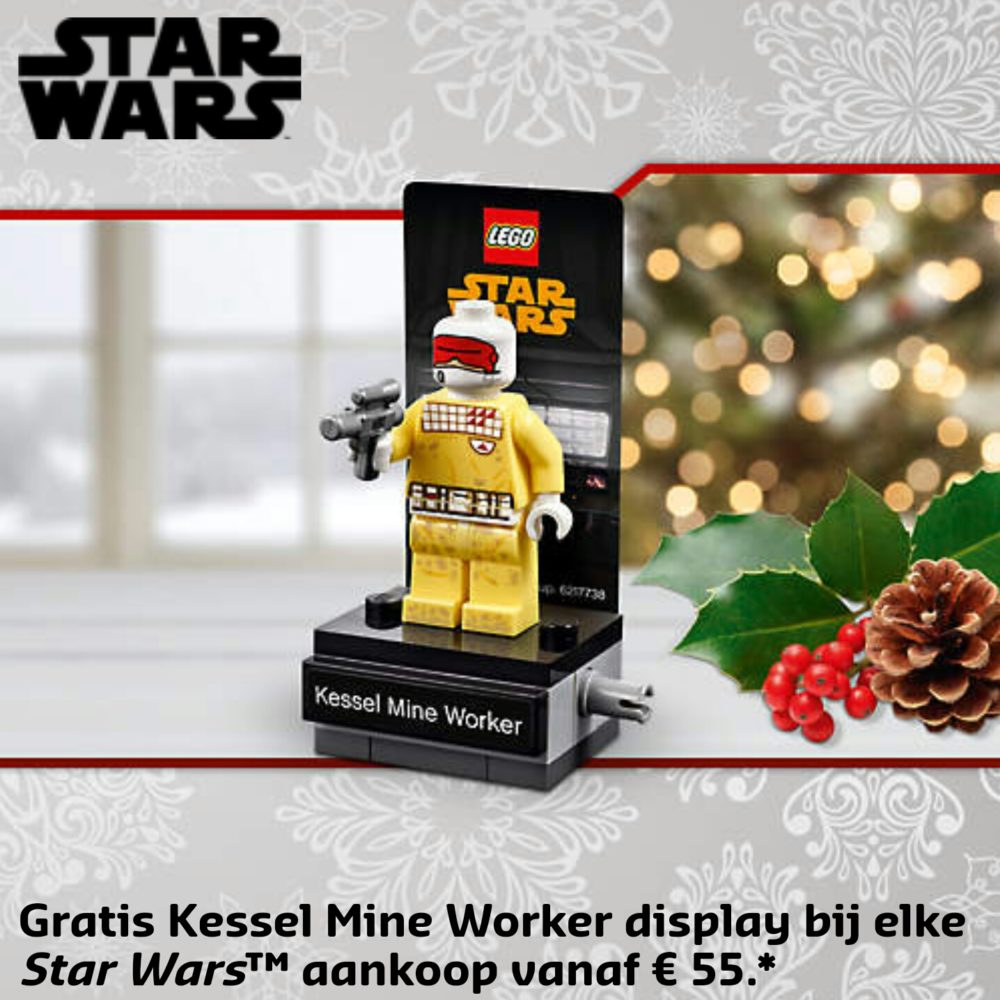 banner LEGO kessel mine worker