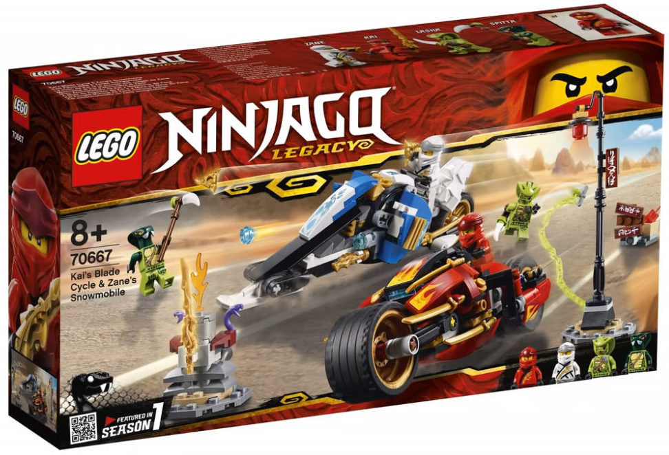 LEGO Ninjago 70667 Kai Blade Cycle Zane Snowmobile