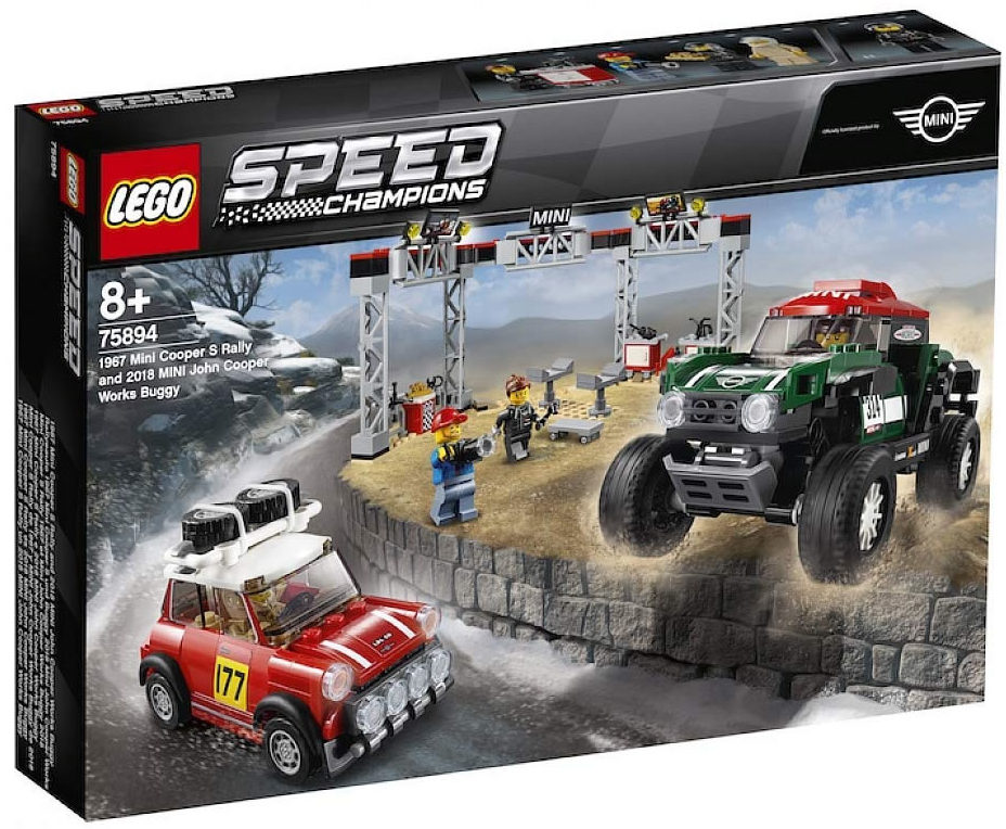 LEGO Speed Champions 75894 1967 Mini Cooper S Rally & 2018 Mini John Cooper Works Buggy