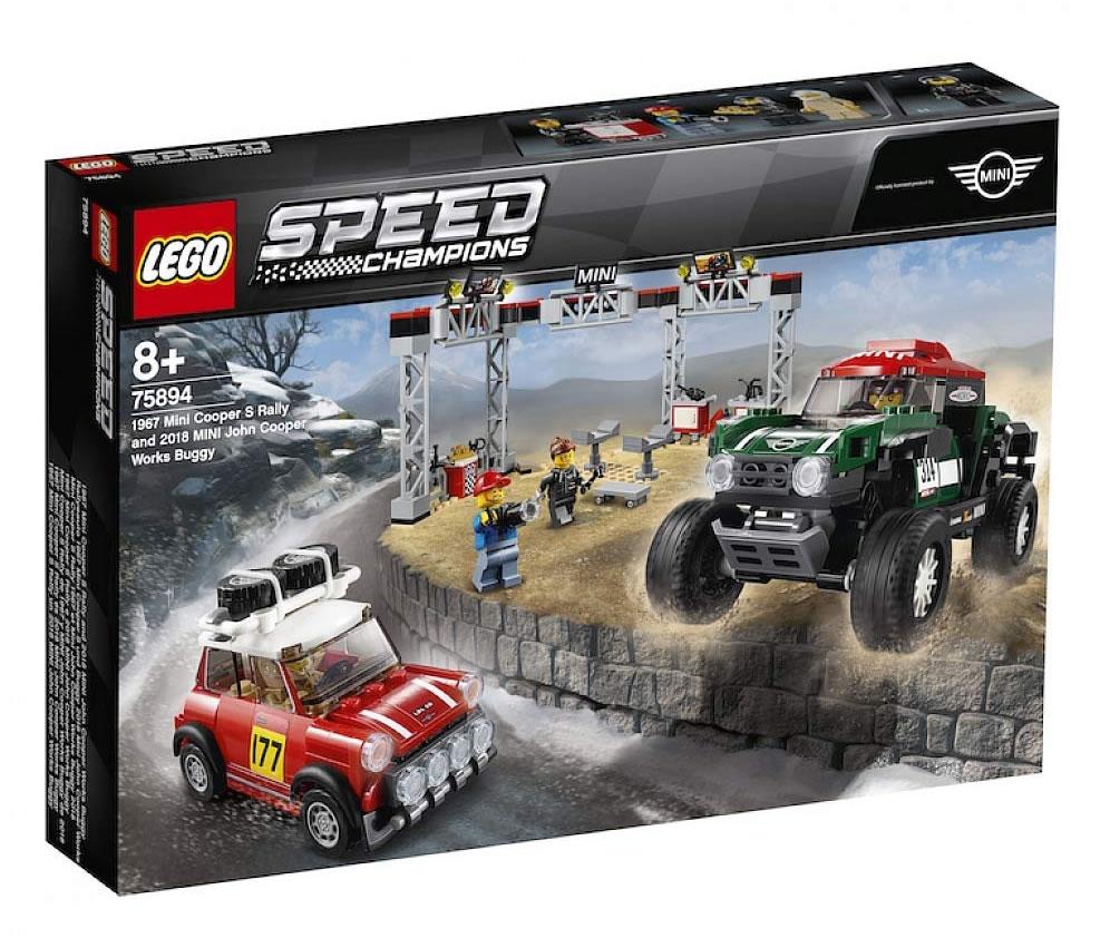 LEGO Speed Champions 75894 1967 Mini Cooper S Rally & 2018 Mini John Cooper Works Buggy