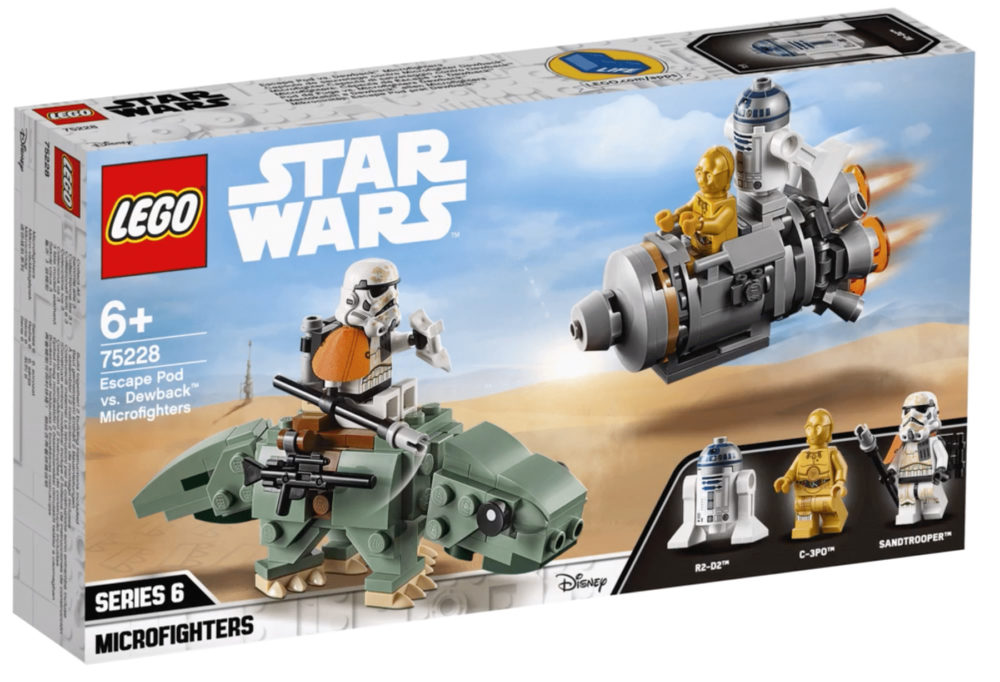 LEGO Star Wars 75228 Escape Pod vs Dewback