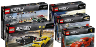 Visuals LEGO Speed Champions sets winter 2019