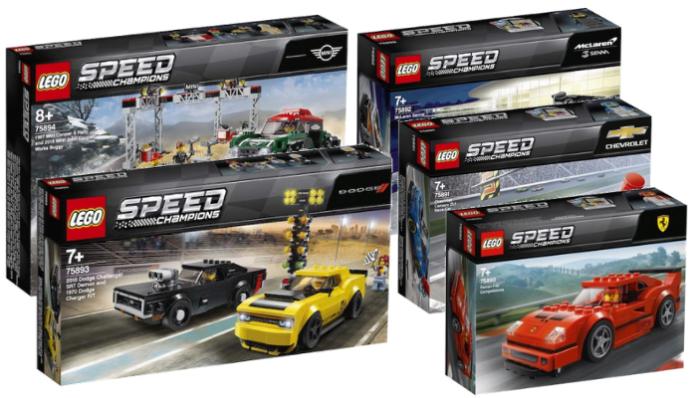 Visuals LEGO Speed Champions sets winter 2019