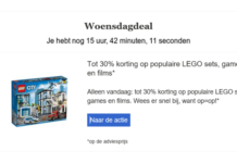 Woensdag deal 30% korting op LEGO