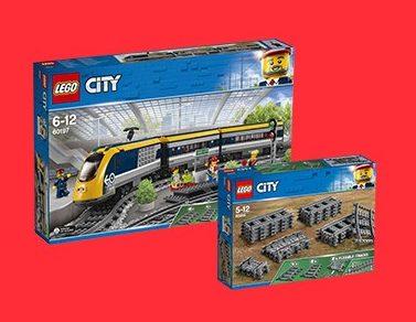 Korting op LEGO Rails