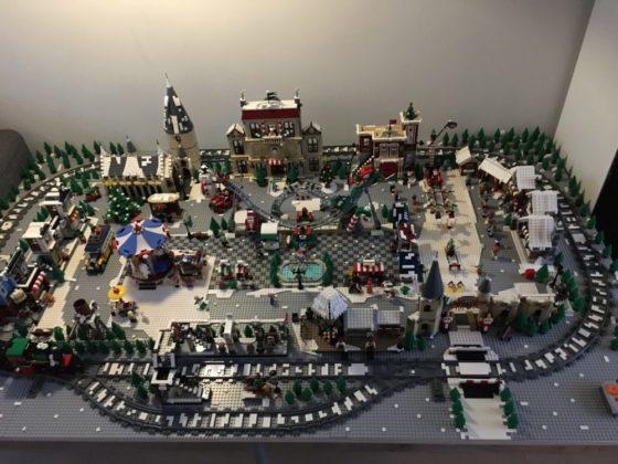 Fred en Sem De Groof - kerstdorp