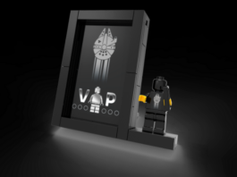 LEGO Black VIP Display stand onthuld