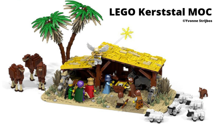 LEGO kerststal MOC Yvonne Strijbos