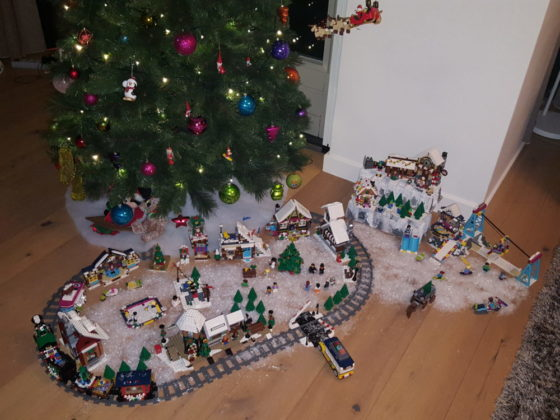 Mike en Noa van Rekum- kerstdorp