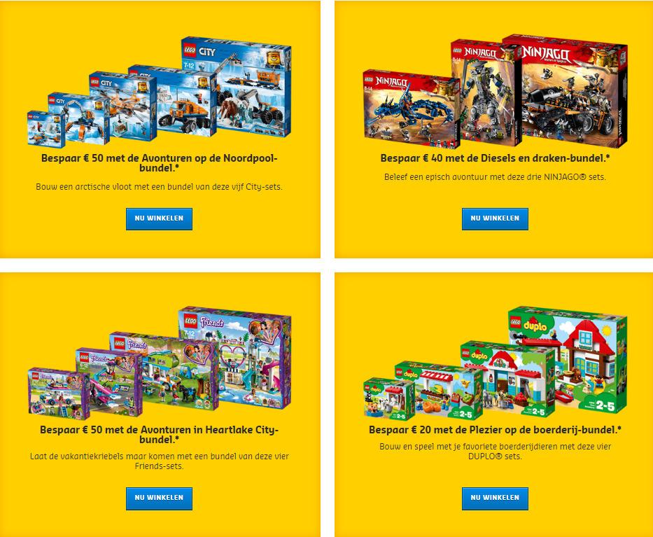 LEGO 2018 bundels met korting