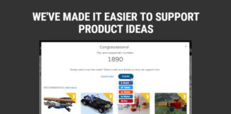 Update LEGO Ideas zorgt voor sneller stemmen