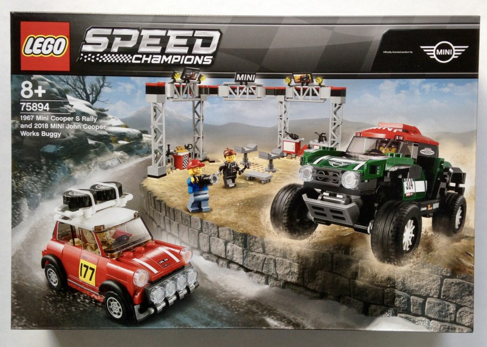 LEGO Speed Champions 75894 1967 Mini Cooper S Rally and 2018 Mini John Cooper Works Buggy