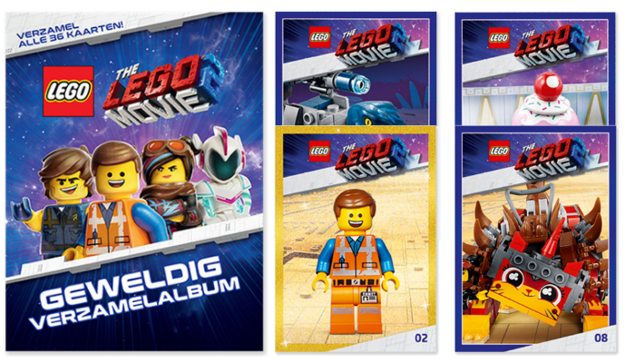 Gratis LEGO Movie 2 verzamelkaarten en album