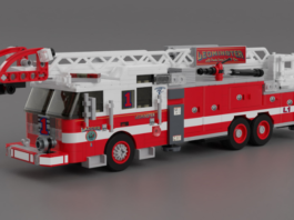 LEGO 2016 Pierce Rear Mount Aerial