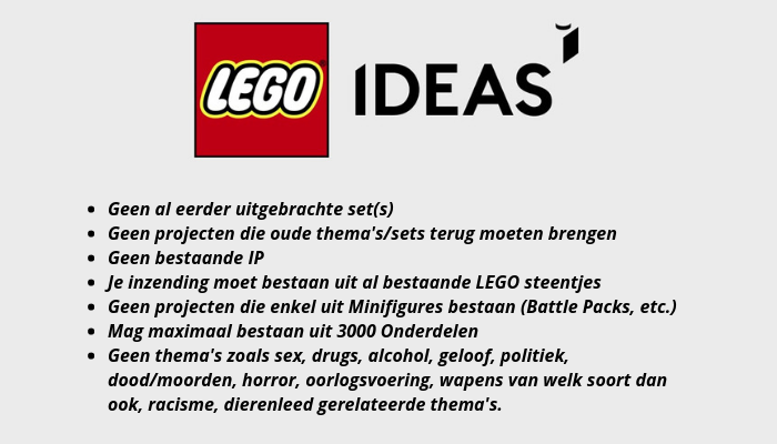 LEGO Ideas: de basisprincipes