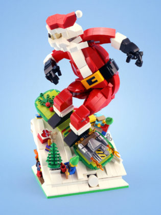 Santa Snowboard Test - LEGO 7
