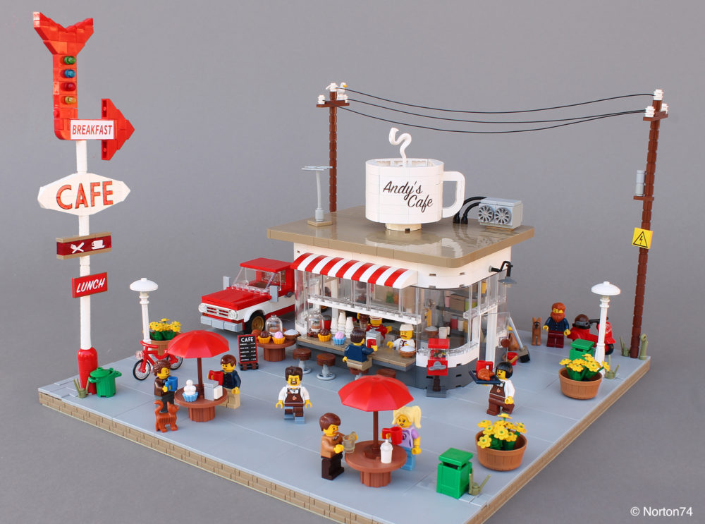 LEGO Coffee Stand Andy's Cafe - overzicht