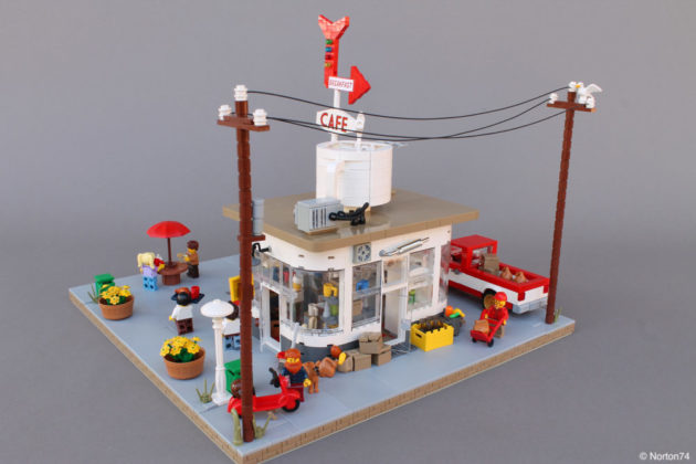 LEGO Coffee Stand Andy's Cafe back 2