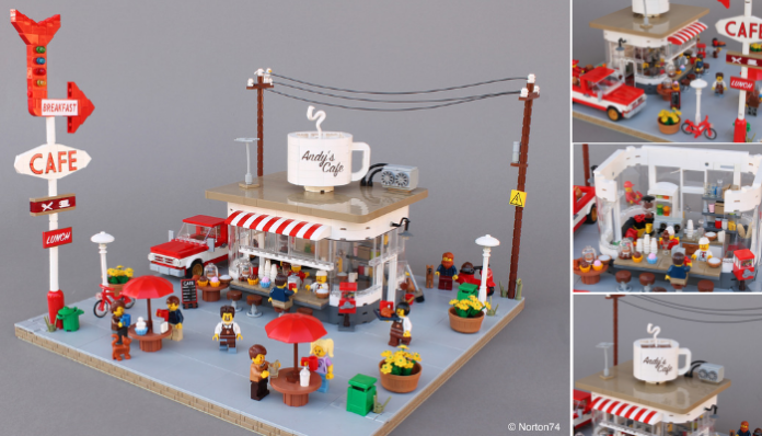 LEGO Coffee Stand - Andy's Cafe - header