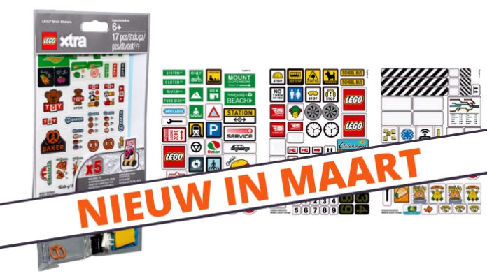 LEGO Xtra 853921 Brick Stickers verkrijgbaar