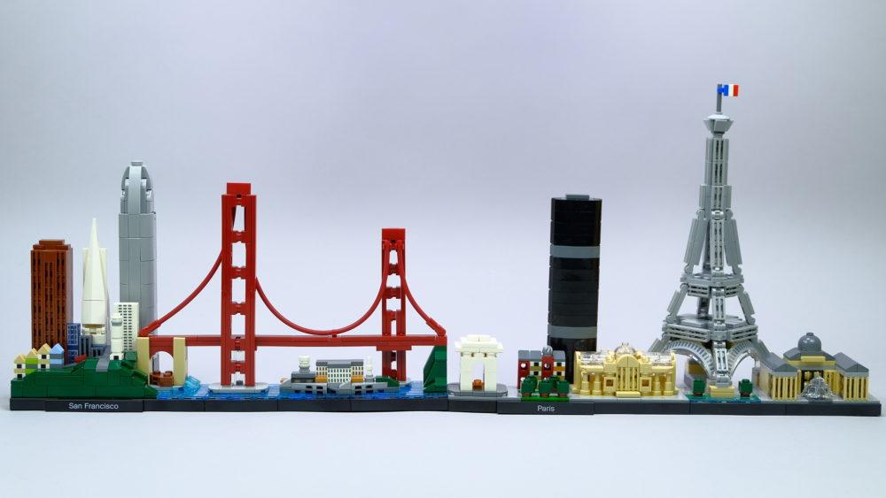 LEGO Architecture 21043 en LEGO Architecture 21044