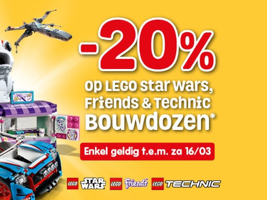 Korting op LEGO Star Wars - Friends en Technic