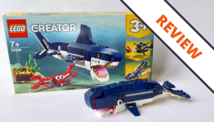 LEGO Creator 31088 Deep Sea Creatures header