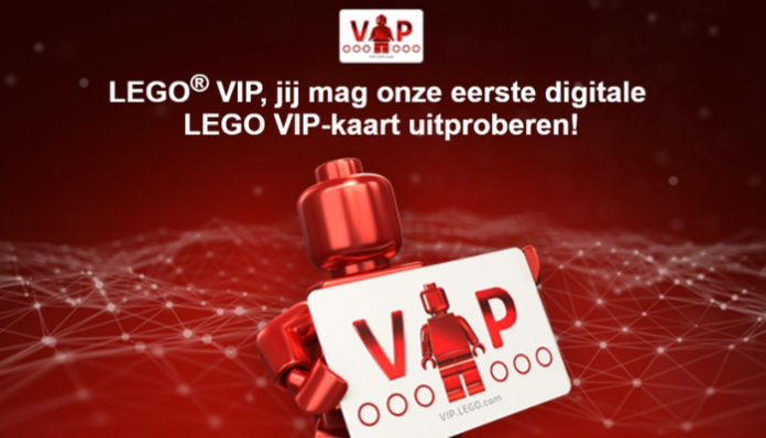 LEGO verstrekt digitale LEGO VIP kaarten