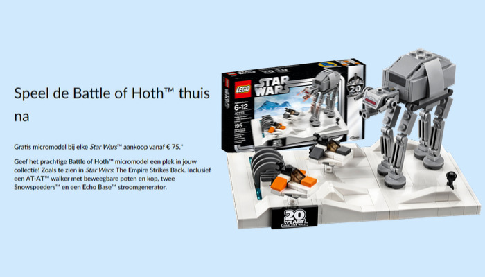 Gratis LEGO Star Wars 40333 Battle of Hoth