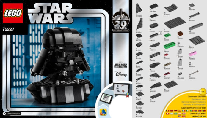 Instructies LEGO Star Wars Darth Vader Bust