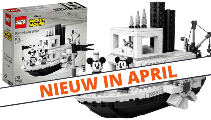 LEGO Ideas 21317 Steamboat Willie verkrijgbaar