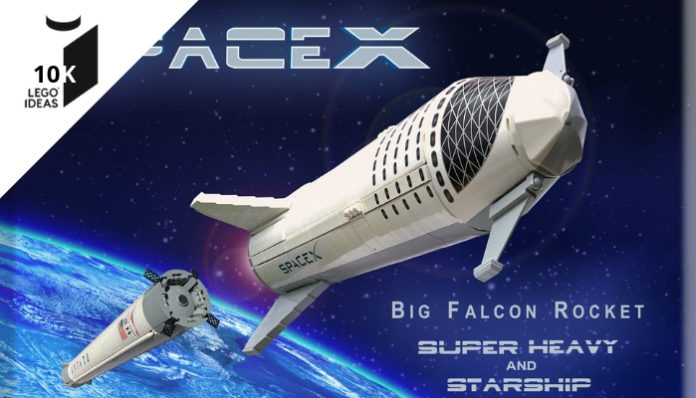 LEGO Ideas SpaceX BFR bereikt 10.000 supporters