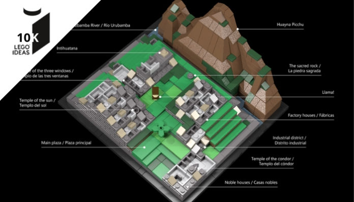 LEGO Ideas Machu Picchu bereikt 10.000 supporters