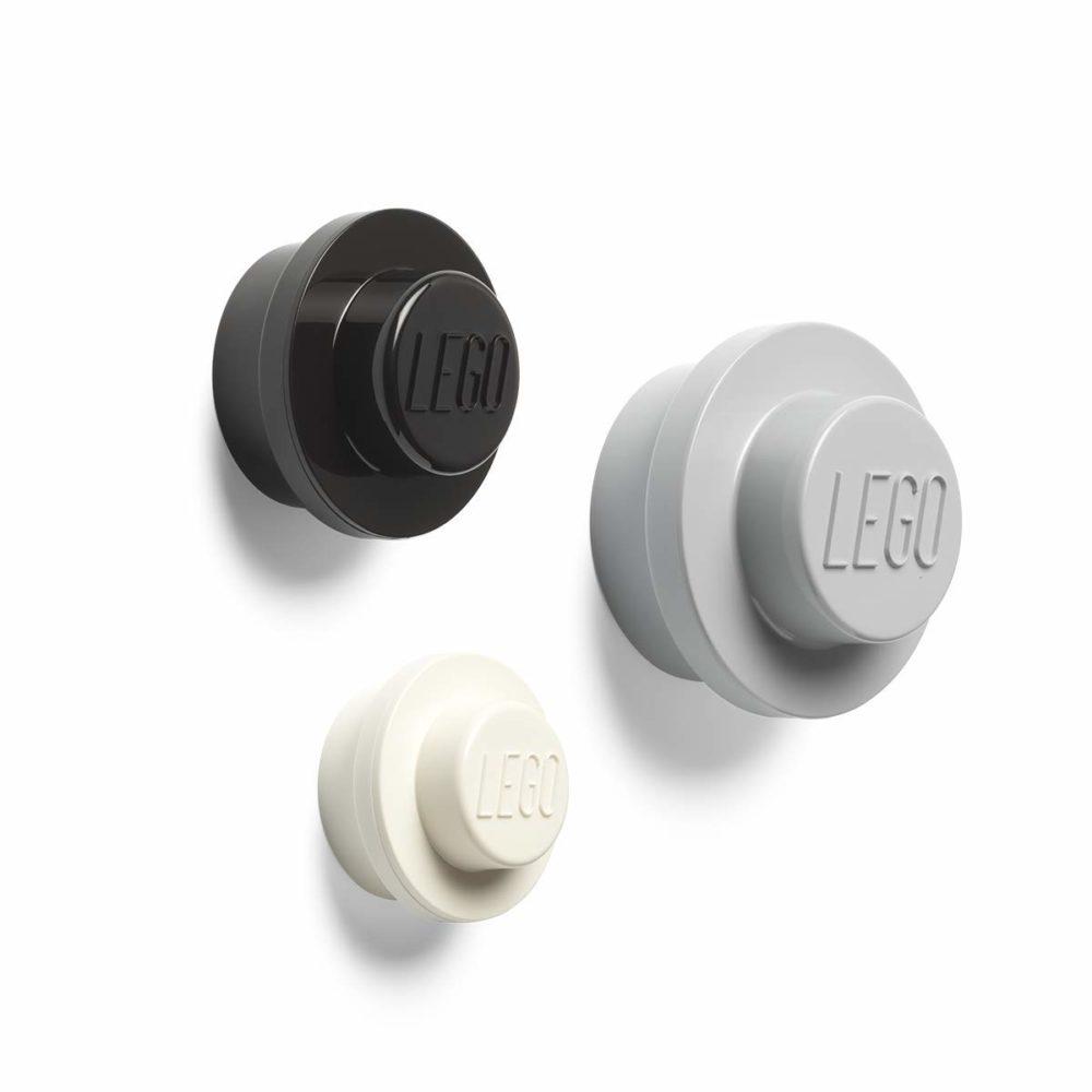 LEGO Wall Hanger Grey, Black, White