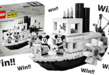 Win een LEGO Ideas 21317 Steamboat Willy