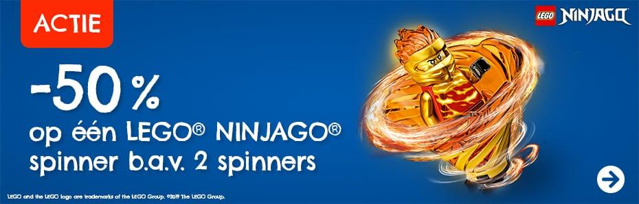 50% korting op Ninjago Spinners