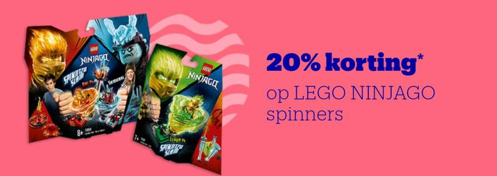 20% korting op LEGO Ninjago Spinners