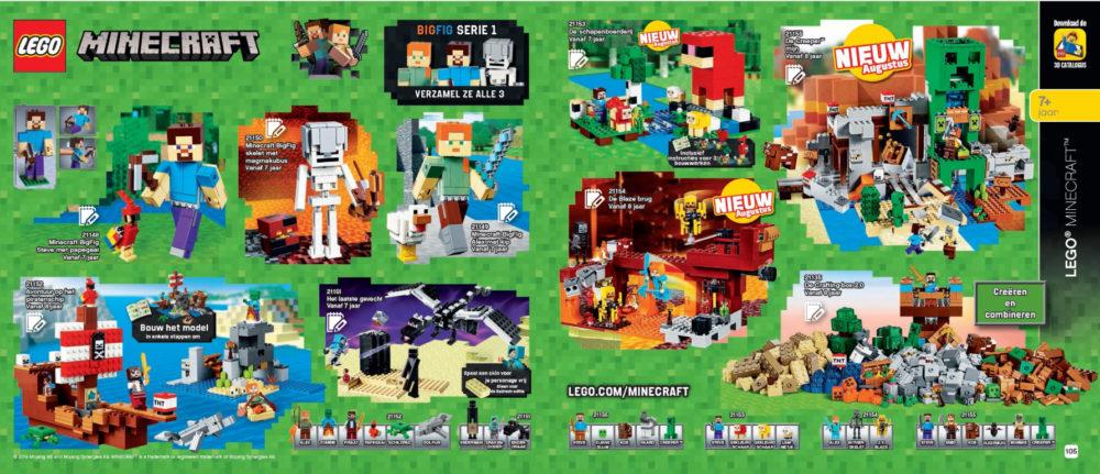 LEGO Minecraft augustus releases