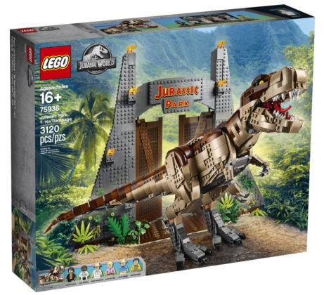 LEGO Jurassic World 75936 Jurassic Park T-rex Rampage Box-art