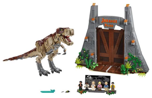 T-rex met poort en Minifigures