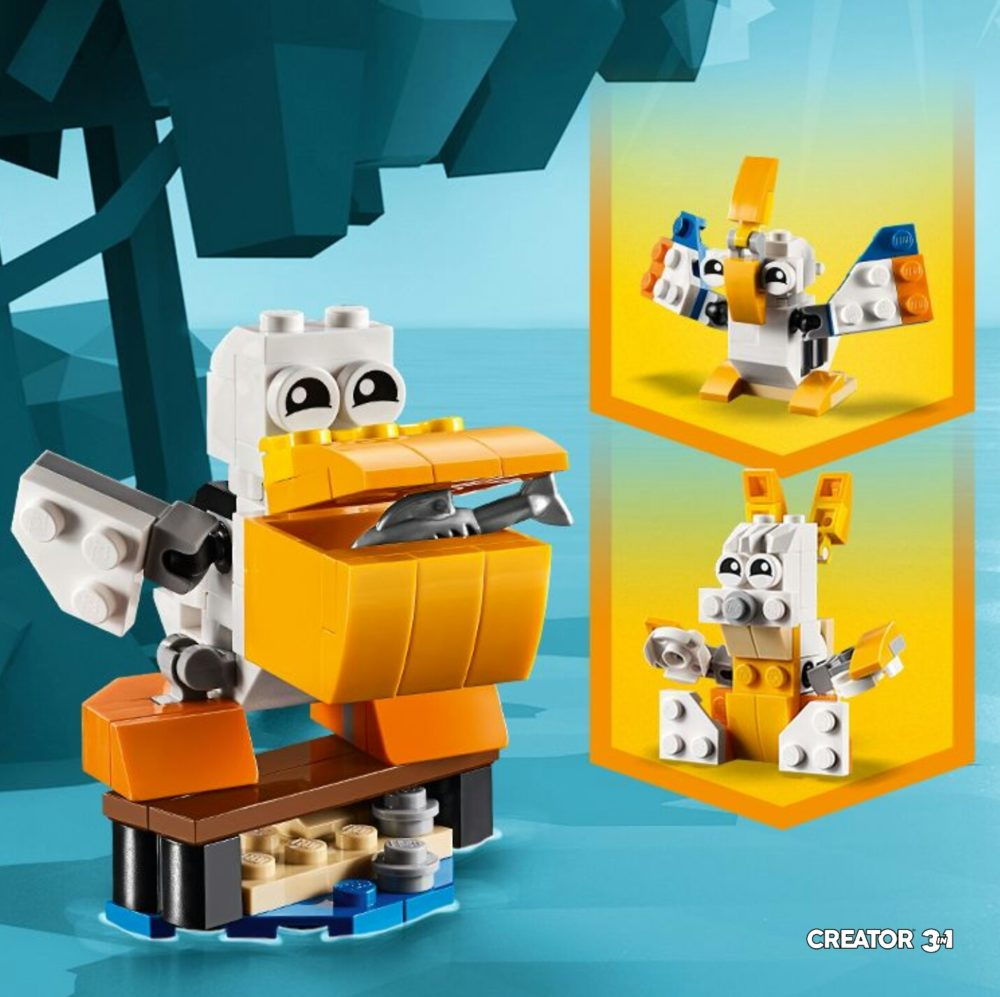 Gratis LEGO Creator Pelican