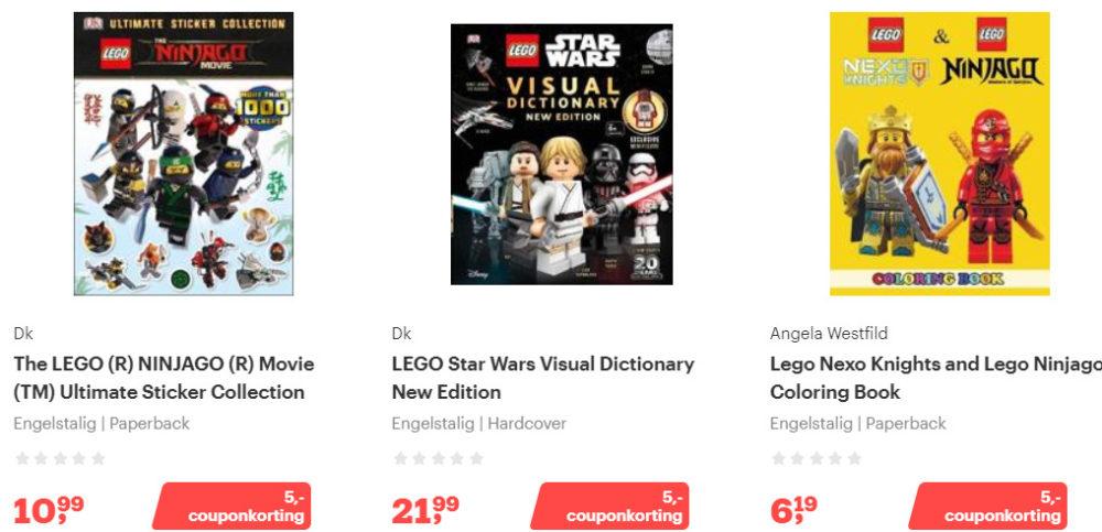 Korting Engelstalige LEGO Boeken 2