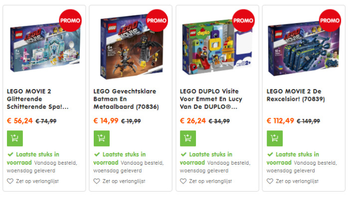Korting op LEGO Movie 2 sets (1)