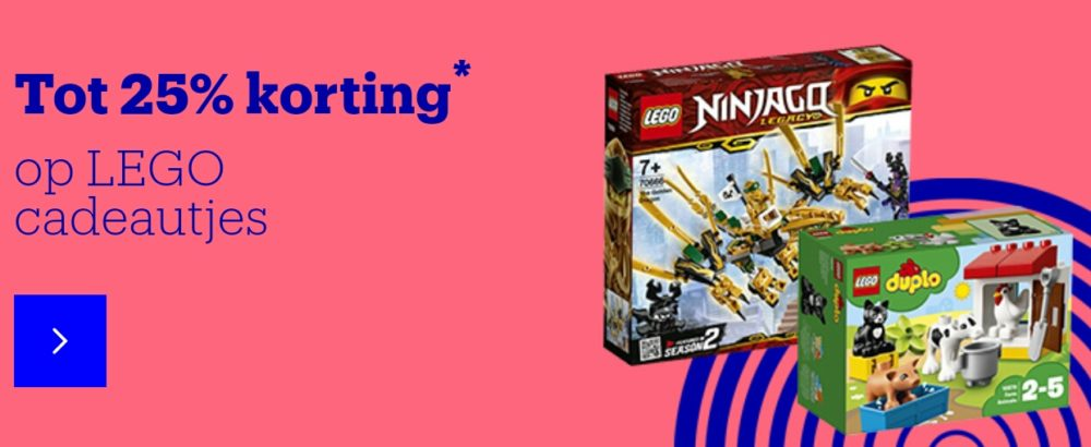 Korting op LEGO